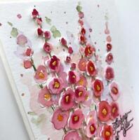 Hollyhocks Flower Metal Cutting Dies Craft Scrapbooking Album Stencil Die Cut