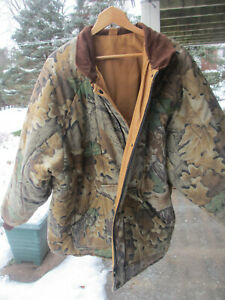 WALLS Reversible Insulated Advantage Camo Brown Work & Hunting Jacket 2XL Reg