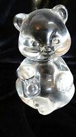 Fenton Art Glass Crystal Clear Bear Figurine Made in USA