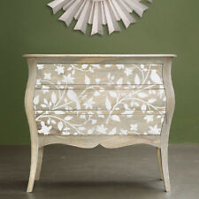 Birds On A Vine Furniture Stencils - Pearl Inlay Designs for Furniture Makeover