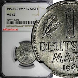 Germany-Federal Republic 1969 F 1 Mark Stuttgart NGC MS67 TOP GRADED KM# 110(07)