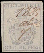 1880s 1CUBA Revenue Stamp - Policia 50 Centavos A18Q