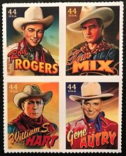 2010 Scott #4446 - 4449 - 44¢ - COWBOYS OF THE SILVER SCREEN - Block of 4 - MNH