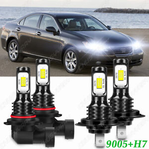 For Lexus ES350 2007 2008 2009 Combo 9005 H7 LED Headlight High Low Bulbs Kit US