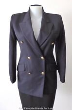 NEXT Navy Blue Wool Jacket Made In Great Britain Size 14 - 16 US 10 - 12 EUR 42