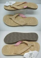 New Womens ROXY 6 San O Tan Leather Sandals Shoes $39