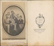 d'après daguerreotype vintage CDV albumen carte de visite CDV, tirage alb