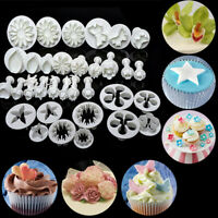 33PCS Cake Decorating Fondant Sugarcraft Icing Plunger Cutters Tools Mold Mould