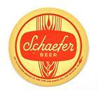 Schaefer EE.UU. Cerveza Bier Posavasos de cerveza Base Coaster sous-bock