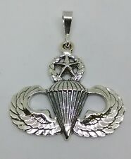 Sterling Silver U.S. Army Airborne Master Jump Wing pendant