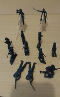 Vintage MPC Civil War Army Men Metallic Blue Plastic Army Men Toy Soldiers