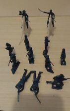 Vintage MPC Civil War Army Men Metallic Blue Plastic Army Men Toy Soldiers