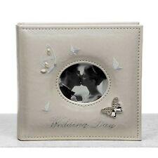Wedding Photo Album Large Ivory Cream Butterfly 6 x 4 Photos  #1