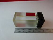 MICROSCOPE PART ZEISS GERMANY BLOCK PRISM GLASS MOUNTED OPTICS AS IS #88-46
