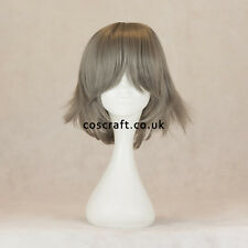 Medium flick cosplay costume wig in grey UK SELLER, Ash style