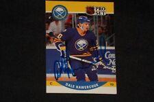 DALE HAWERCHUK 1990-91 PRO SET SIGNED AUTOGRAPHED CARD #415 BUFFALO SABRES