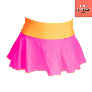 MC2 SAINT BARTH Beach / Swim Skirt Size 10Y Neon Unlined Lettuce Edges