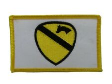 U.S. Military Army First Cavalry White Flag Wholesale lot of 6 Iron On Patch
