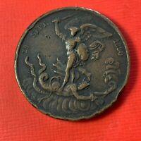 """#5069 - Médaille 29 septembre 1820""""Dieu nous l'a donné"""" par GAYRARD (FR2) med235"""