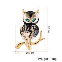 Womens Animal Bird Butterfly Cat Crystal Brooch Pin Costume Wedding Jewellery