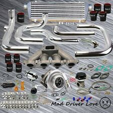 92-00 HONDA CIVIC D15 D16 D-SERIE SOHC BOLT ON .57A/R TURBO KIT SSQV BOV SL/BK