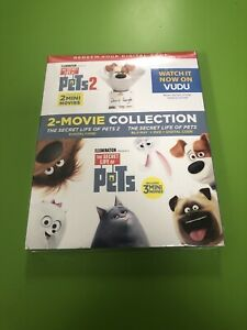 BRAND NEW Secret Life of Pets 1 & 2 Two Movie Collection (Blu-Ray Digital Code)
