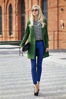 ZARA BNWT Green Double Breasted Masculine Wool Coat Size S Free P&P RRP£90