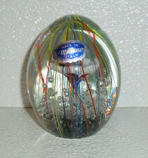 """Murano Glass Paperweight Flower Bullicante With Sticker Tag 3.25"""""""