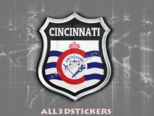 Pegatina Emblema 3D Relieve Bandera Cincinnati - Todas las Banderas del MUNDO