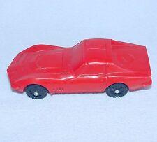 Stelco Germany 1/43 CHEVROLET CORVETTE 1972 Red Vinyl PVC Model Car NM`72 RARE!