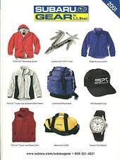 2001 Subaru GEAR by L.L. BEAN Brochure / Catalog : WRX,SPT clothing, Swag