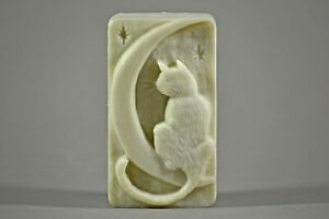 CAT MOON SILICONE MOULD SOAP RESIN PLASTER CLAY WAX MOLD  5,5OZ