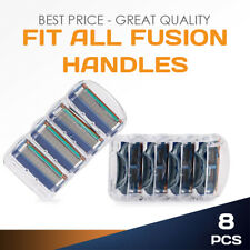NEW 8 PCS Replacement Razor Blades For Gillette Fusion ProGlide Handle Refills