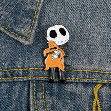 Skull Bear brooch lapel pin Creative Jewelry badge Halloween GiftsB Dh