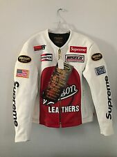 Supreme x Vanson Leathers White Star Jacket Sz Medium Box Logo Bogo
