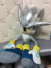 "*RARE* Sonic The Hedgehog Sega 22"" SILVER HEDGEHOG Plush Stuffed Kelly Toy"
