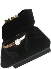 Bvlgari Bangle With Crystal Quartz Stone Rose Gold Brand New In Box And Bag