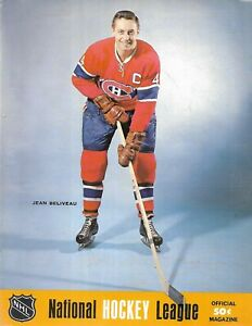 1968-69 Pittsburgh Penguins-Canadiens Program Habs Win on New Year's Eve!!