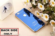Apple iPhone 5S - Blue Tempered Glass - Mirror Shiny Effect - Back Side Only