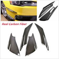 4pcs Real Carbon Fiber Front Bumper Fins Canards Splitters For Mitsubishi Lancer