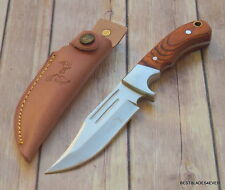 9.25 INCH OVERALL ELK-RIDGE FIXED BLADE FULL TANG HUNTING KNIFE WITH SHEATH