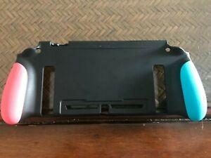 Nintendo Switch Silicone Cover - Black w/ Orange/Blue Handles