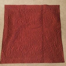 Simply Vera Vera Wang Euro Pillow Sham 26 By 26 Inches Red Quilted