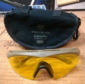 Revision Sawfly Spectacles yellow leans & case size regular