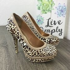 Baby Phat Chance Leopard Closed Round Toe Platform Pump Shoes 7M