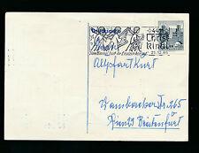 Christkindl-Stempel 21.12.1966 auf Geschäfts-Postkarte   (B7)