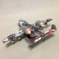 """B/O Tailwinds A-10 Thunderbolt Fighter, 6"""" Diecast Pull Back Sound Light Toy GR"""