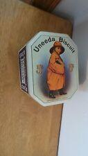 Vintage Nabisco National Biscuit Company UNEEDA BISCUIT Advertising Tin can
