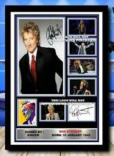 More details for (#522) rod stewart music legend signed a4 photo/framed/unframed (reprint) @@@@