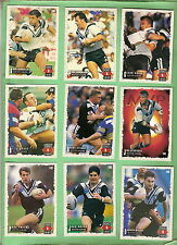 1995 SERIES 1 WESTERN SUBURBS MAGPIES  RUGBY LEAGUE CARDS